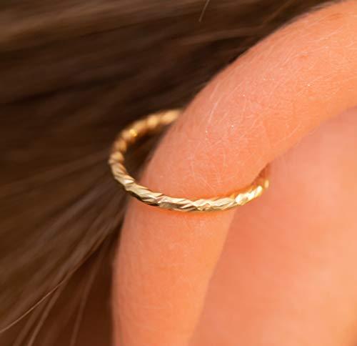 Gold Hoop Helix Earring 20G Cartilage hoop Tiny Cartilage RingCartilage earringTragus earringHelix ringpiercing earringGift for Woman hoop ring