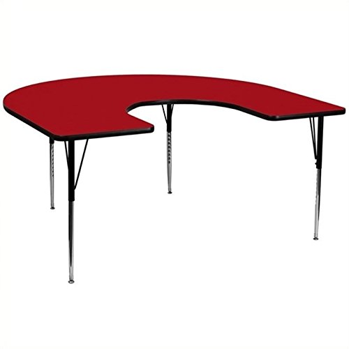 Bowery Hill 30.13'' Horseshoe Activity Table in Red by BOWERY HILL (Image #2)