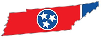 Amazon.com: Tennessee state map flag sticker decal 6\