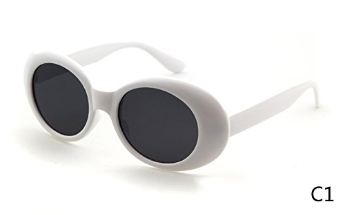 b2a1f25b9a Image Unavailable. Image not available for. Colour  BuyWorld Clout Goggles  Vintage Retro Neff Oval Tint Unisex Sunglasses ...