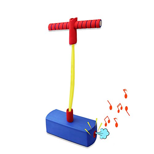 Motiloo Blue Foam Pogo Jumper,Foam Pogo Jumper for Kids,Pogo Stick with Sound Foam Bungee Jumper for Kids