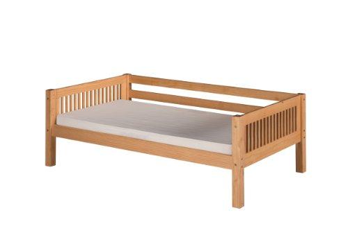 Camaflexi Mission Style Solid Wood Day Bed, Twin, Natural - Solid Wood Daybed