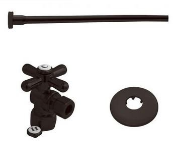 K&A Company Toilet Supply Kits Combo, 1/2'' IPS Inlet, 3/8'' Comp Outlet - Oil Rubbed Bronze