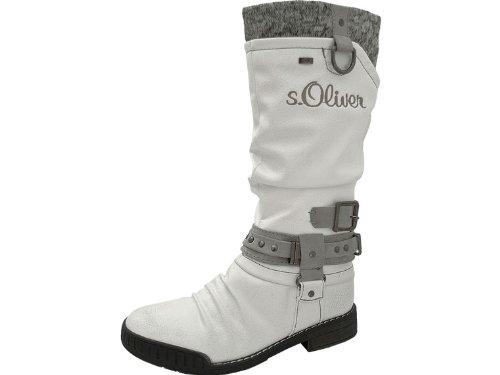 6a75a1036d6f s.Oliver Mädchenstiefel Weiß - Stiefel - weiß , Schuhgröße 35 ...