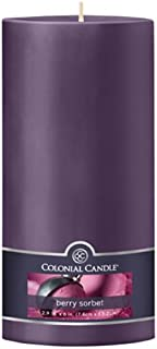 product image for Colonial Candle Berry Sorbet 3-Inch by 6-Inch Smooth Pillar