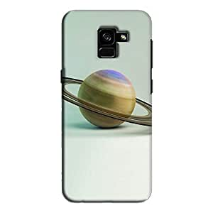 Cover It Up - Saturn on White Galaxy A8 Plus Hard Case