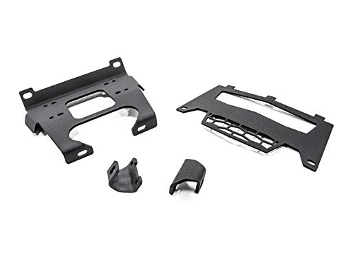 SuperATV Heavy Duty Winch Mounting Plate for Polaris RZR XP 1000/4 1000 (2014-2018) - Dual Mounting Bolt Patterns