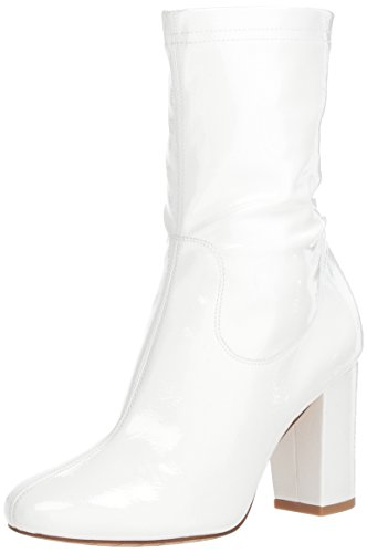 Kenneth Cole New York Women's Alyssa Stretch Shaft Heel Ankle Boot, White, 8 Medium (White Heel Boots)