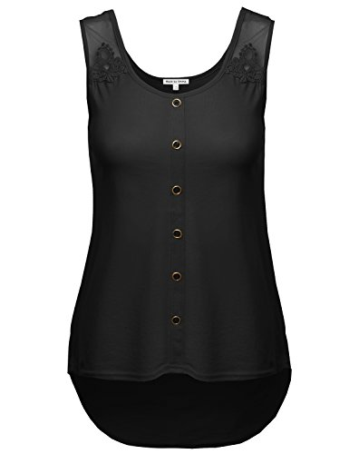 Made by Emma MBE Womens Soft Stretch Lace Contrast Tank Top
