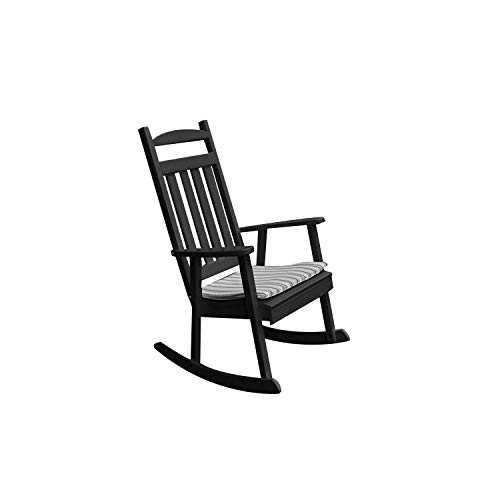A&L Furniture Company Classic Recycled Plastic Porch Rocking Chair For Sale