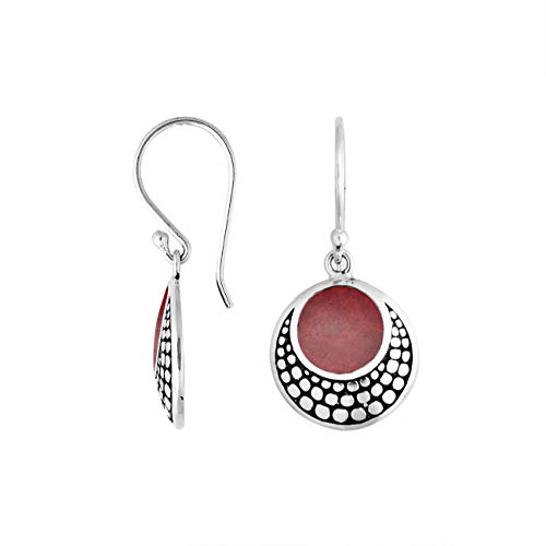 Sterling Silver Earring with Coral AE-6259-CR ()