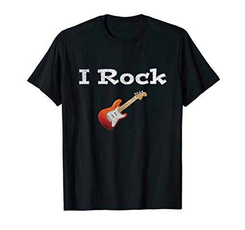 Distressed I Rock Electric Guitar T-Shirt