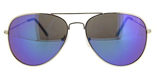 color montura verde con funda y y incluida Gafa para en con aviador o Mahui violeta de chico cristales metal chica unisex modelo espejo azul sol BxwqY67