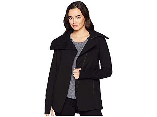 Liverpool Women's Asymmetrical Jacket in Super Stretch Ponte Knit Black X-Large