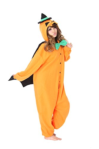 [Pumpkin Kigurumi - Adult Costume (Orange)] (Adult Pumpkin Halloween Costumes)