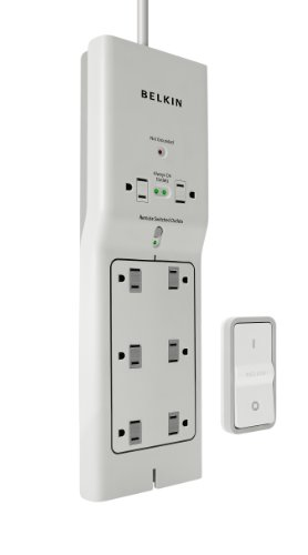 - Belkin 8-Outlet Conserve Switch Surge Protector with 4-Foot Cord and Remote, F7C01008q