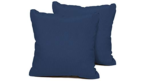 """TK Classics PILLOW-NAVY-S-2x Outdoor Square Throw Pillows, Set of 2, Navy - Luxury Patio Furniture Designed to create luxurious outdoor living environment 6"""" x 16"""" x 16"""" - patio, outdoor-throw-pillows, outdoor-decor - 31pUnT6eGQL -"""