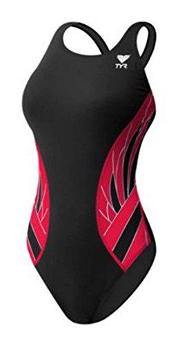 TYR Phoenix Splice Maxfit Swimsuit, Black/Red, Size - Swimwear Triathlon