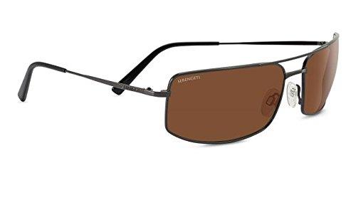 Serengeti 8307 Treviso Sunglass, Shiny Dark Gunmetal Frame, Polarized Drivers - Sunglasses Best Drivers Serengeti