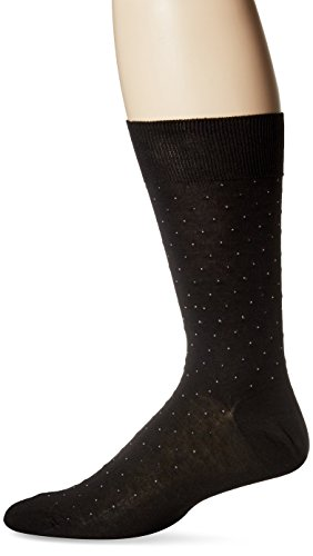 Punto Men's Pin Dot Sock, Black, Sock Size:10-13/Shoe Size: (Mens Pin Dot Dress Sock)