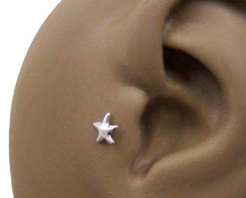 c56b1094a Starfish Lip Ring BioPlastic Labret Stud 18g-16g-14g Tragus-Helix-Flat Back  Cartilage Earring - Buy Online in Oman. | Jewelry Products in Oman - See  Prices, ...