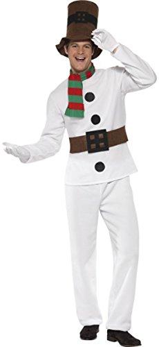 Mr Snowman Adult Mens Costumes (Mr Snowman Costume X Large)