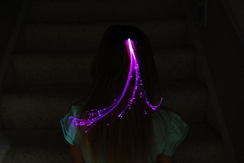 Pink Glowbys Hair Accessory (Glowbys Brand LED Fiber Optic Light-Up Hair Barrette- Pink)