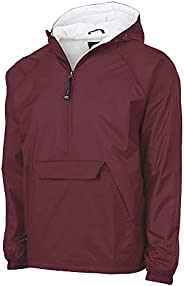 Charles River Apparel Mens Classic Solid Windbreaker Pullover