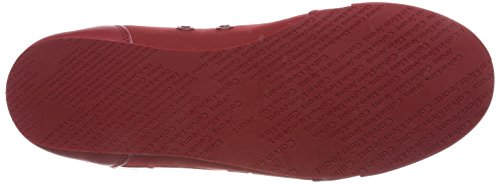 Calvin Klein Cale Matte Smooth/Patent, Sneaker Uomo Rosso (Drd 000)