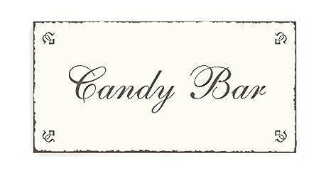 Dekolando - Letrero de madera para puerta, diseño vintage con texto en inglés «Candy bar»: Amazon.es: Oficina y papelería