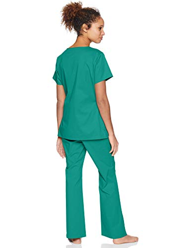 Amazon Essentials Women's Standard Quick-Dry Stretch Scrub Top