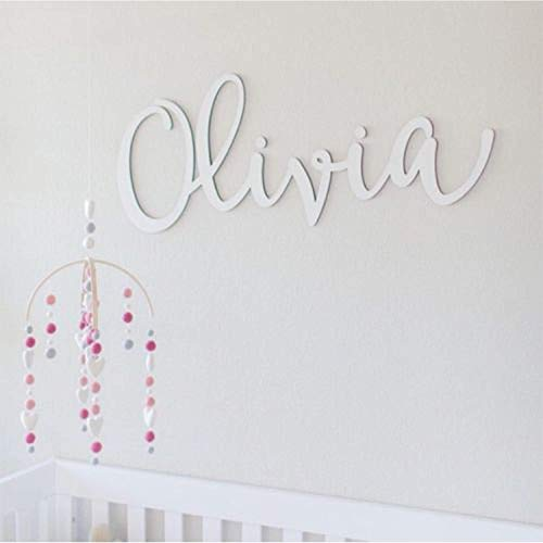 baby room personalised 3 photo Frame with cut out name child