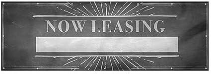 9x3 CGSignLab Now Leasing Chalk Burst Wind-Resistant Outdoor Mesh Vinyl Banner