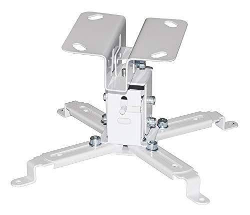 Staffa Proiezione Bianca Provis a Soffitto 'Slim' Universale da 15CM per videoproiettore