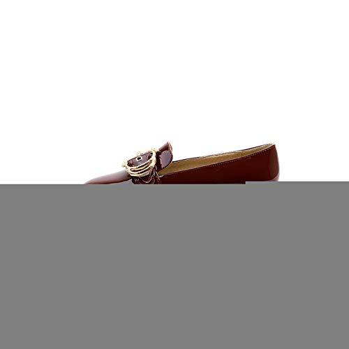 AdeeSu Femme Compensées Bordeaux SDC05931 Sandales rtqEwrP