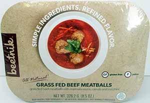 Beetnik Foods Organic Gf Grass Fed Beef Meatballs, 11.5 Ounce (Pack of 08) by Beetnik Foods