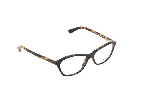 Emporio Armani Montures de lunettes 3040 Pour Femme Black / Tortoise, 53mm 5264: Black / Tortoise