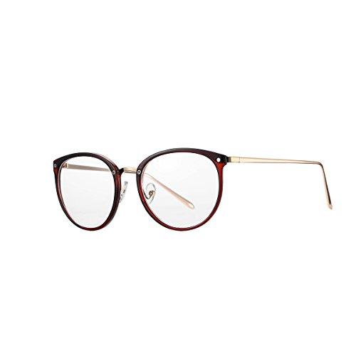 AZORB Womens Vintage Optical Eyeglasses Non-prescription Clear Lenses Eyewear (Red, - Optical Glasses Frame