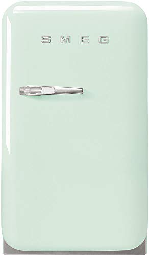 """Smeg FAB5URPG3 16"""" 50's Retro Style Series Compact Cooler with 1.5 cu. ft. Capacity Absorption Cooling Automatic Defrost LED Interior Lighting and Adjustable Shelves Pastel Green, Right Hand Hinge"""