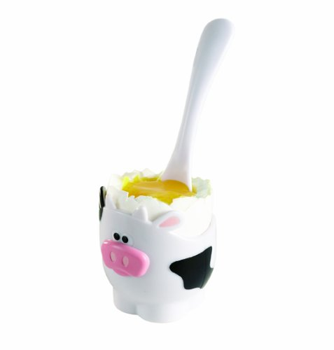 Joie Egg Cup and Spoon, Moo-Moo Cow