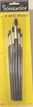 UPC 021854016047, Artist Paint Brushes - 6 count Case Pack 48