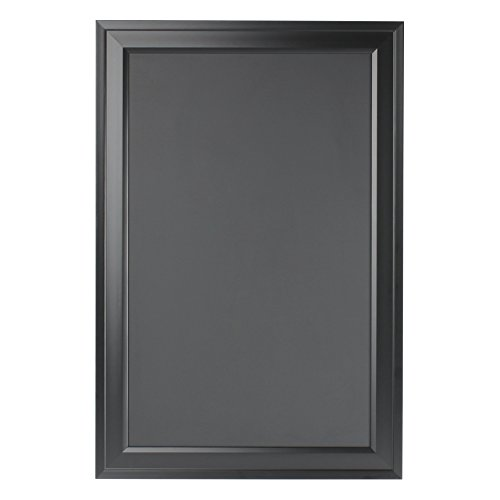DesignOvation Bosc Wall Mounted Framed Magnetic Chalkboard, 18.5x27.5, Black