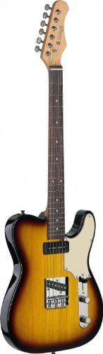 Stagg SET-CST BS Vintage T Series Custom Electric Guitar with Solid Alder Body – Brown Sunburst