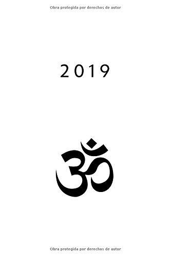 2019 ENE - DIC Agenda Semanal | 152 x 229 mm | 1 Semana en 2 Páginas | 52 Semanas Planificador y Calendario | Aum Símbolo  [Otto Organizador] (Tapa Blanda)