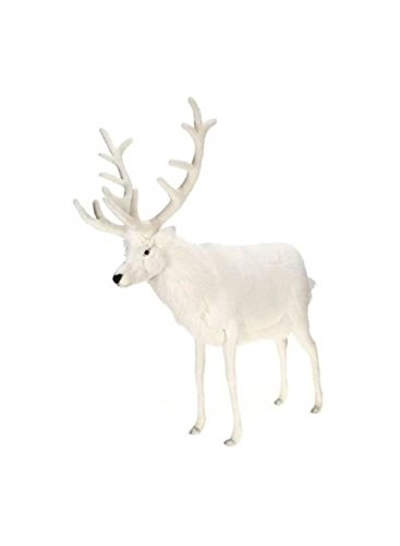 Hansa True-to-Life Large Reindeer in White from Hansa