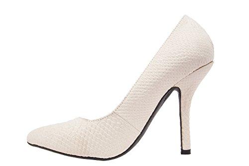 Andres Machado.AM591.Zapatos Salon.Mujer.Tallas Pequeñas y Grandes. 32/35- 42/45. Mujer. Serpiente Hielo