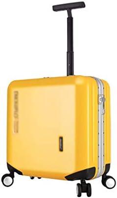 BXDYA スピナー荷物トロリーケース、スーツケース4スピナーホイールの軽量拡張可能な旅行荷物 (Color : Yellow)