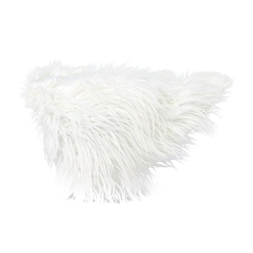 White Dog Blanket (vmree Dog Blanket, 60x50cm Warm Pet Mats Dog Cats Faux Fur Soft Mats Blankets (White))