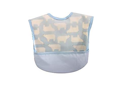 Delantal para niños pequeños Patrón de oso polar bebé babero niños toalla de la saliva babero ...