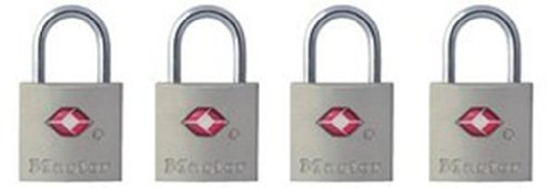 31pV9NEenEL - Master Lock Padlock, Keyed TSA-Accepted Luggage Lock, 7/8 in. Wide, 4683Q (Pack of 4)